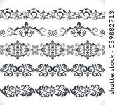 seamless floral border vector... | Shutterstock .eps vector #539882713