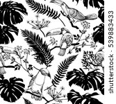 seamless pattern with image of... | Shutterstock .eps vector #539883433