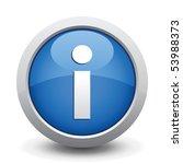 blue button. vector... | Shutterstock .eps vector #53988373