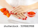 Beautiful Red Manicure With...