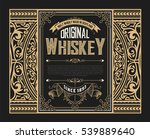 old whiskey label | Shutterstock .eps vector #539889640