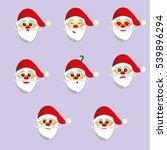 santa claus smiles set vector... | Shutterstock .eps vector #539896294