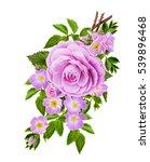 flower composition. the branch...   Shutterstock . vector #539896468