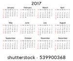 calendar for 2017 year on white ... | Shutterstock .eps vector #539900368