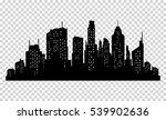 set of vector city silhouette... | Shutterstock .eps vector #539902636