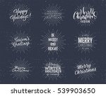 set of christmas   new year... | Shutterstock . vector #539903650