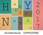 happy new year 2017 in vintage... | Shutterstock .eps vector #539903980