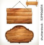 wooden board  old wood  vector | Shutterstock .eps vector #539906854