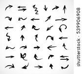 hand drawn arrows  vector set | Shutterstock .eps vector #539906908