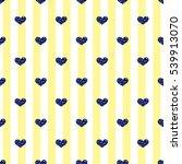seamless blue heart glitter  on ... | Shutterstock .eps vector #539913070