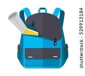 backpack schoolbag icon in flat ... | Shutterstock . vector #539913184