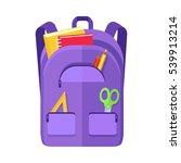 backpack schoolbag icon in flat ... | Shutterstock . vector #539913214