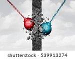 breaking down walls together... | Shutterstock . vector #539913274