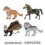 fantastic battle riding animals ... | Shutterstock . vector #539913703