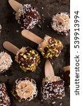 frozen chocolate covered banana ... | Shutterstock . vector #539913994