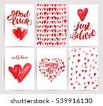 valentine day congratulation... | Shutterstock . vector #539916130