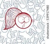 vector hand drawn cartoon... | Shutterstock .eps vector #539917480