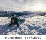 girl enjoy the view on the top... | Shutterstock . vector #539918380