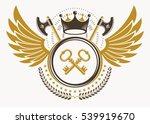 vintage decorative heraldic... | Shutterstock .eps vector #539919670