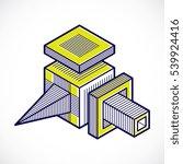 isometric abstract vector... | Shutterstock .eps vector #539924416
