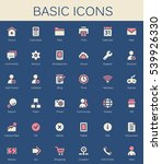 basic web icons. modern vector...   Shutterstock .eps vector #539926330