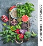 vegetables  fruit  seeds ... | Shutterstock . vector #539928070