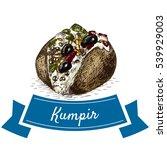 kumpir colorful illustration.... | Shutterstock .eps vector #539929003
