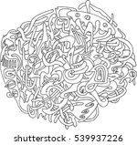 abstract hand drawn vector... | Shutterstock .eps vector #539937226