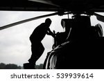 aircraft mechanic  black and... | Shutterstock . vector #539939614