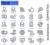 Thin line internet marketing and social network icons set for website and mobile site and apps. Pixel Perfect. Editable Stroke. Simple linear pictogram pack. Vector illustration.