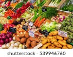 stall display of a farmers... | Shutterstock . vector #539946760