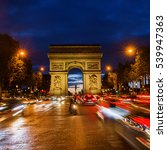 champs elysees and arc de... | Shutterstock . vector #539947363