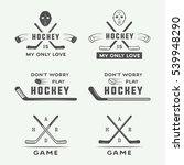 set of vintage hockey emblems ... | Shutterstock .eps vector #539948290