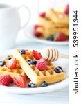 Homemade Waffles With Berries...