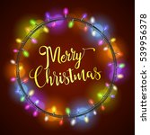 merry christmas greeting card... | Shutterstock . vector #539956378
