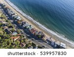 aerial of beach homes along... | Shutterstock . vector #539957830