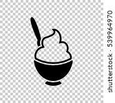 ice cream or porridge in bowl... | Shutterstock .eps vector #539964970