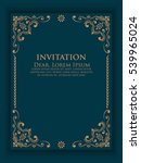 vector invitation  cards with... | Shutterstock .eps vector #539965024