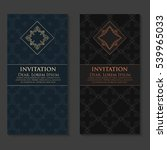vector invitation  cards with... | Shutterstock .eps vector #539965033