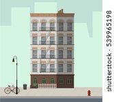 high apartment building white... | Shutterstock .eps vector #539965198