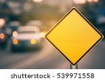 empty yellow traffic sign on... | Shutterstock . vector #539971558