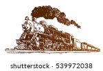Steam Locomotive Sketch