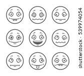 cartoon faces set. emoticons....   Shutterstock .eps vector #539974054
