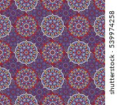 ethnic floral seamless pattern. ... | Shutterstock . vector #539974258