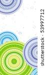 green  blue  violet circles... | Shutterstock .eps vector #53997712