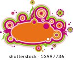 abstract modern ornament with... | Shutterstock .eps vector #53997736