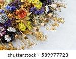 set of wild dried flowers in... | Shutterstock . vector #539977723