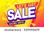 let's get sale for mobile app... | Shutterstock .eps vector #539990659