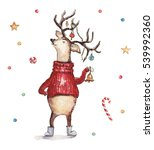 watercolor christmas... | Shutterstock . vector #539992360
