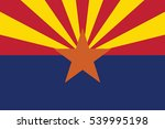 arizona state flag  usa. vector ... | Shutterstock .eps vector #539995198